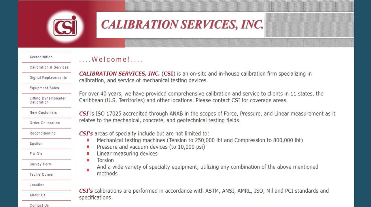 Calibration Services, Inc.