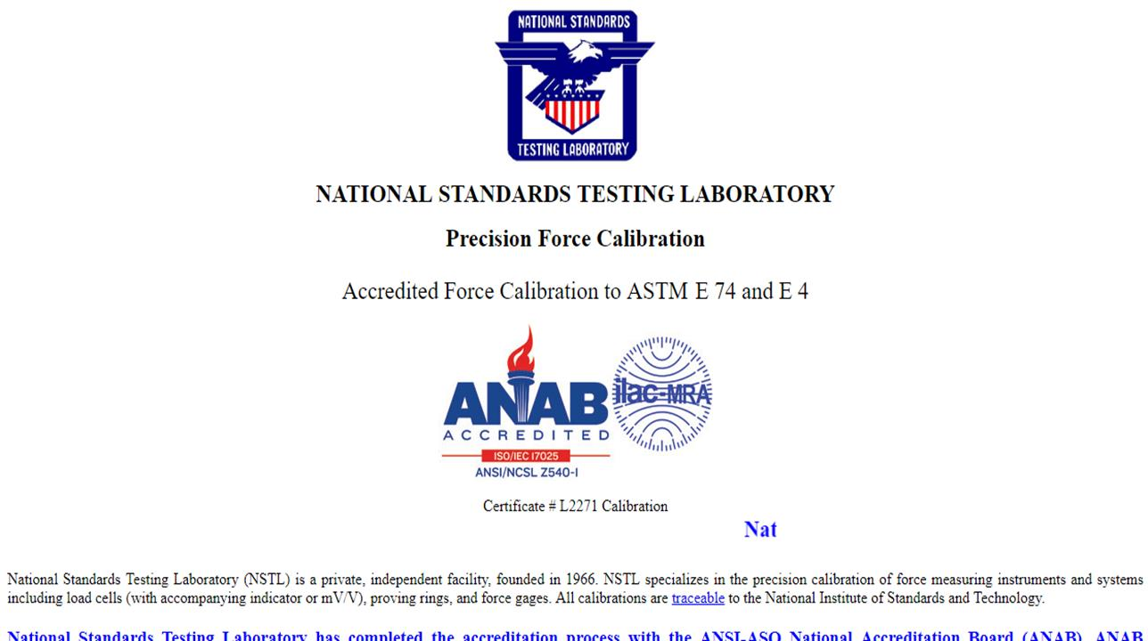 National Standards Testing Laboratory