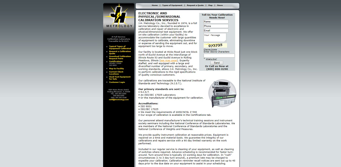 J.H. Metrology Co., Inc.