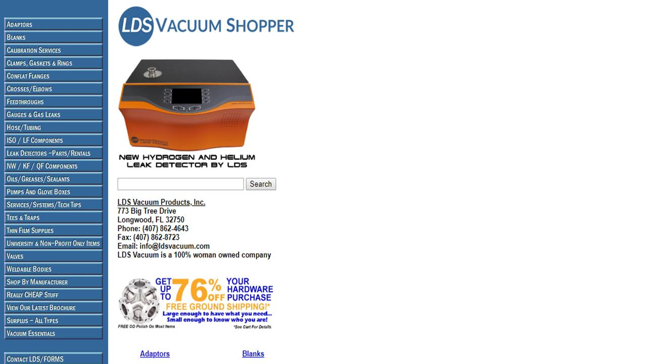 LDS Vacuum Products, Inc.