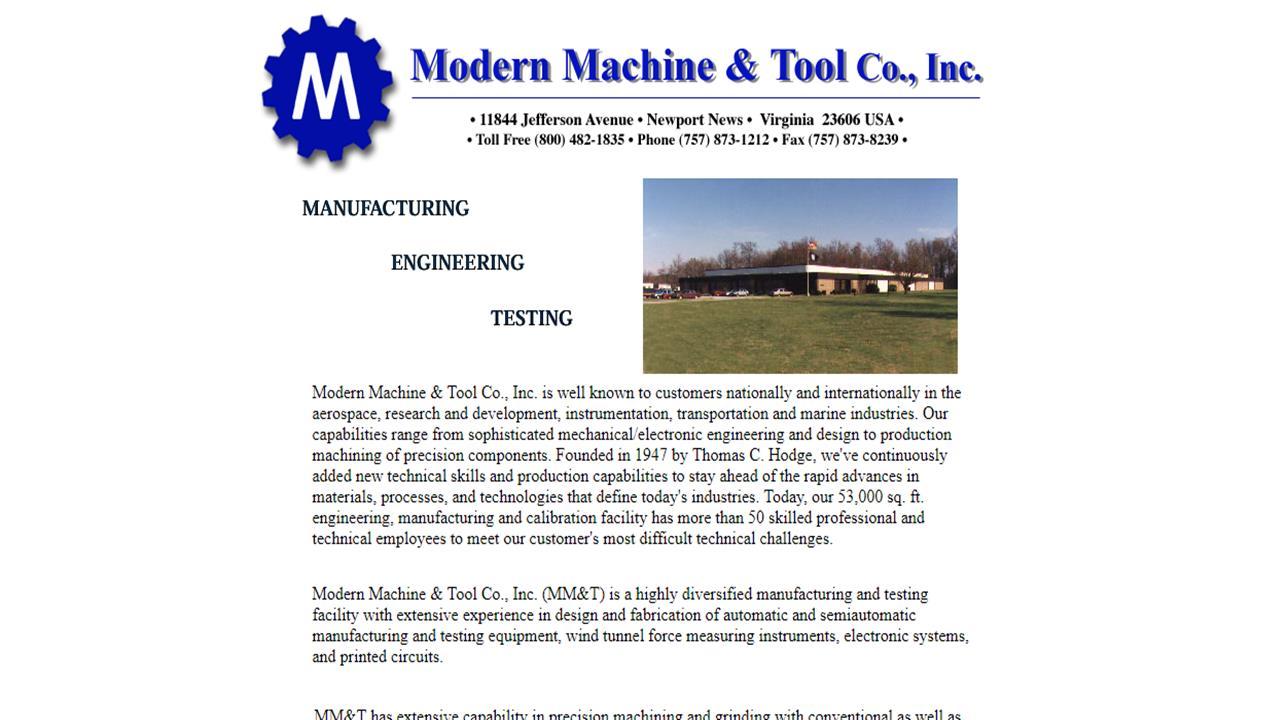 Modern Machine & Tool Company, Inc.