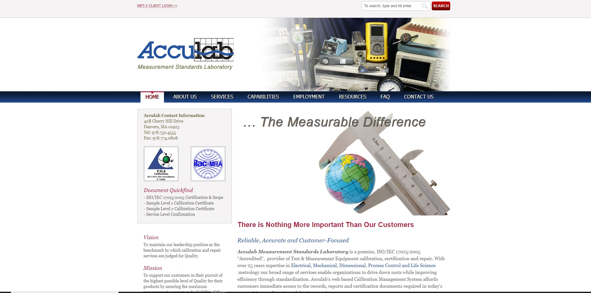 ACCULAB Measurement Standards, Inc.