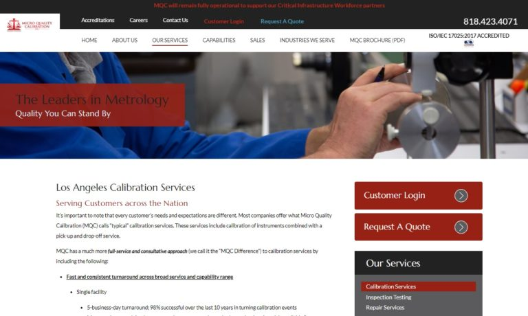 Micro Quality Calibration Inc.